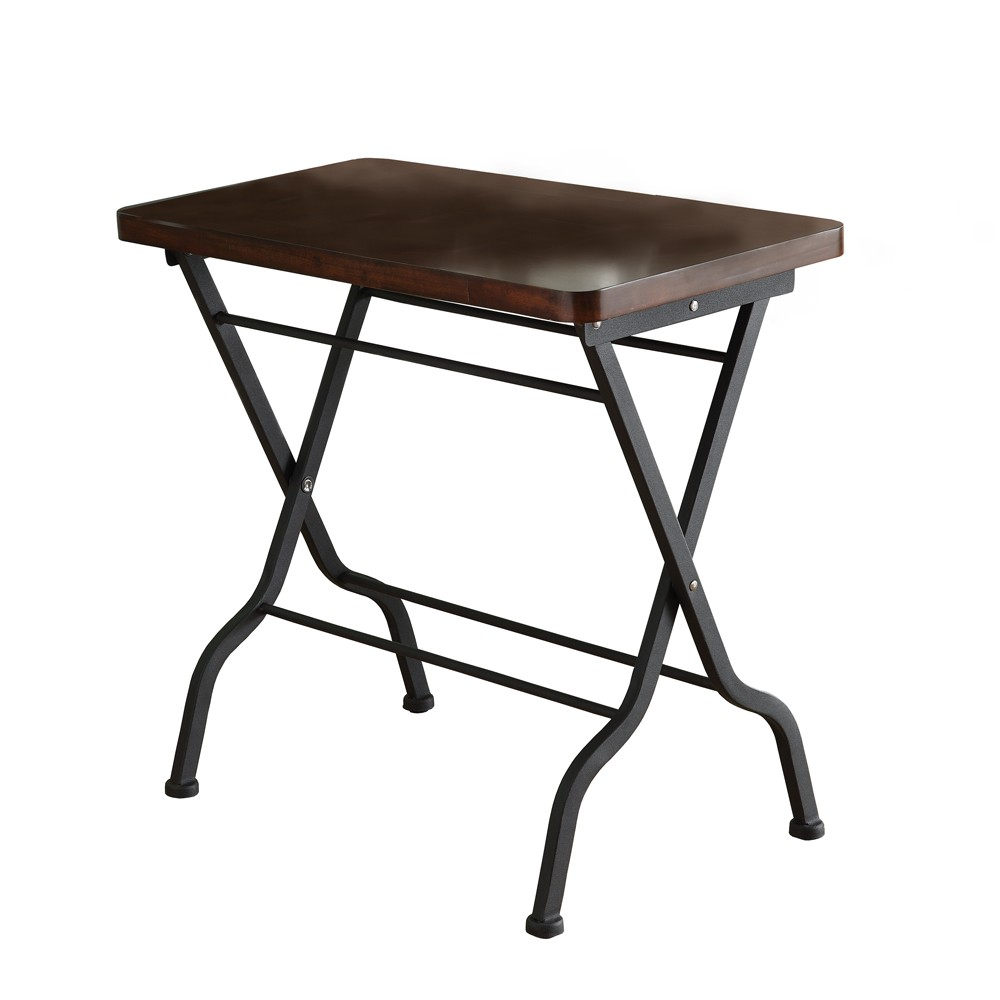 cherry charcoal black metal folding accent table marble end legs inch round patio cover ikea shelves yellow oval tablecloth outdoor chair cushions long narrow desk oak threshold