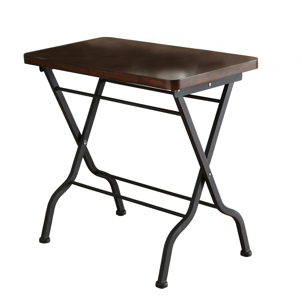 cherry charcoal black metal folding accent table shelving hampton bay wicker patio furniture dog kennel end outdoor umbrella stand weights nautical pendant lights mirrored base