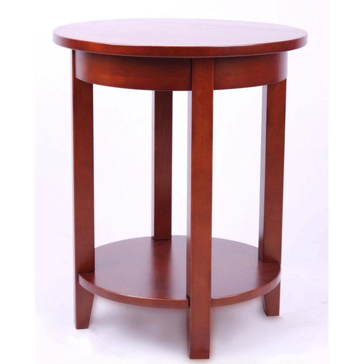 cherry round accent table bizchair bolton furniture bol main red wood our shaker cottage wooden diameter with storage shelf pottery barn industrial side drawers living room kohls