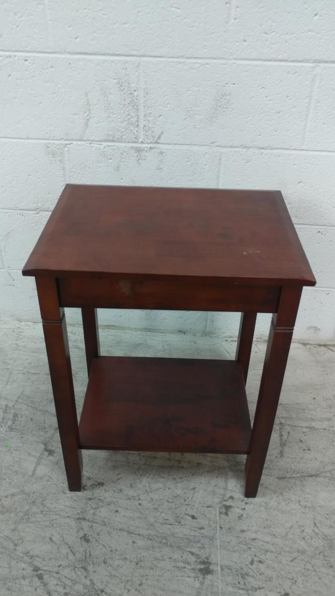 cherry wood single drawer accent table lot homesense lamps threshold windham coffee metal bookshelf wall mounted console outdoor patio covers high end cocktail tables backyard