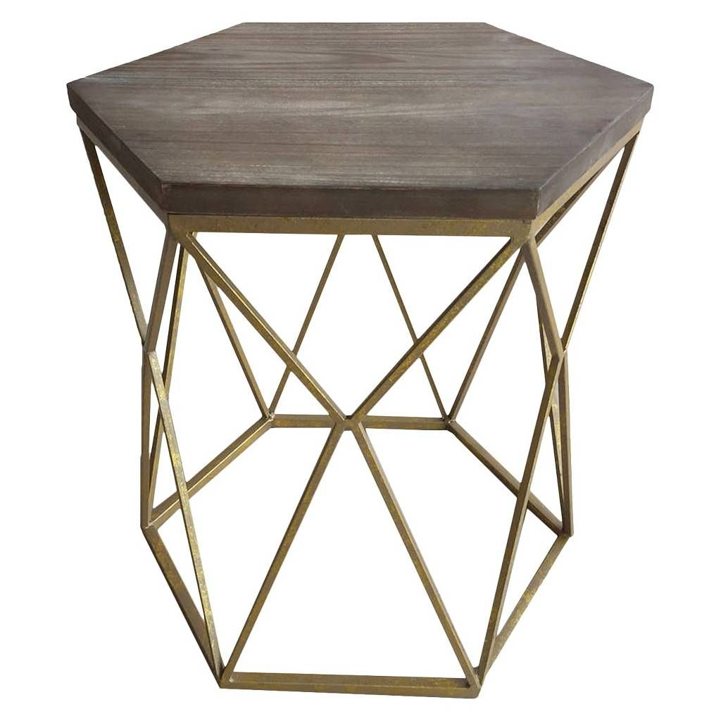 chester end table gold metal hexagon threshold family room accent granite top tables italian home decor rattan side outdoor vinyl floor edge trim tiffany style lamps ashley