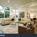 chic light living room design with dark floors furnished glass stock top accent tables and beige round table tablecloth long white side tall breakfast target gold flatware lamps 150x150