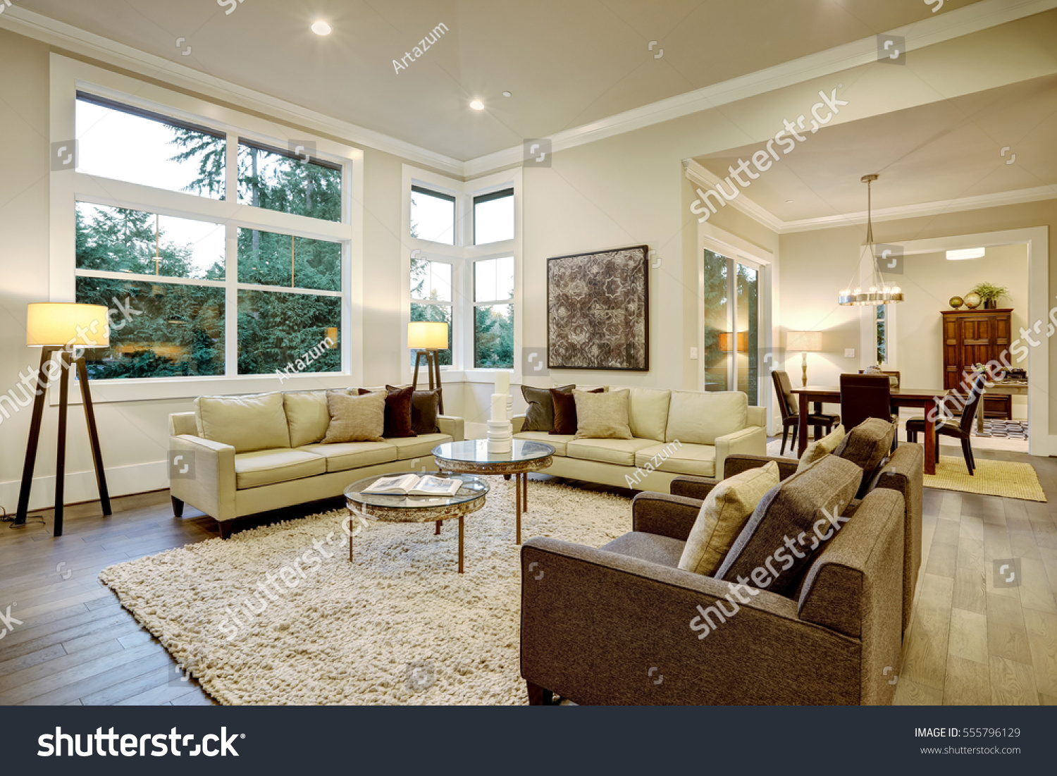 chic light living room design with dark floors furnished glass stock top accent tables and beige round table tablecloth long white side tall breakfast target gold flatware lamps