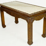 chinese chippendale carved wood accent table with inset target marble ott tray modern telephone small chairs for spaces decorative stands living room furniture elegance round side 150x150