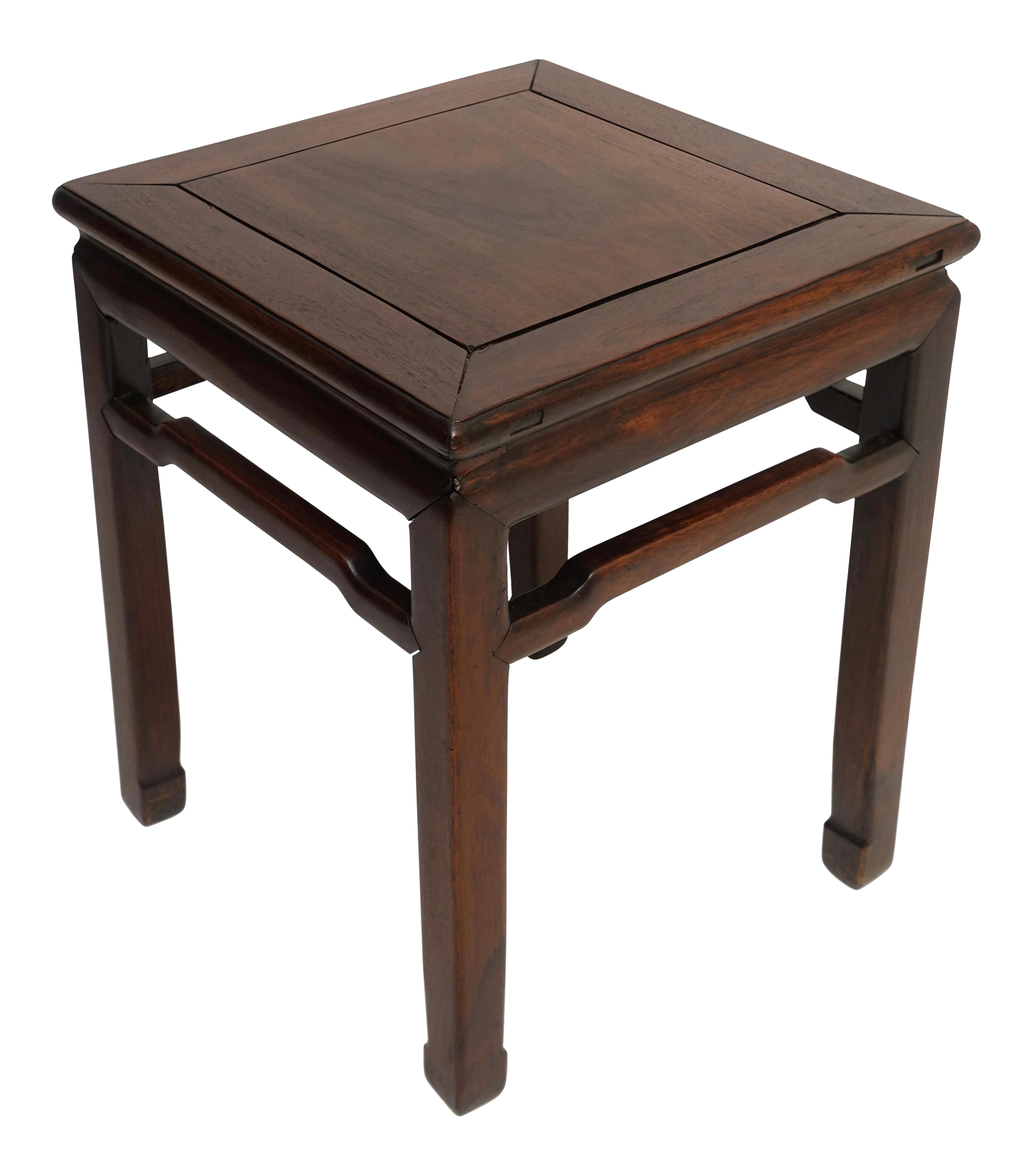 chinese rosewood stool side table century chairish accent inch round tablecloth sofa with console dark brown coffee set patio furniture toronto tall bistro and chairs grey blue