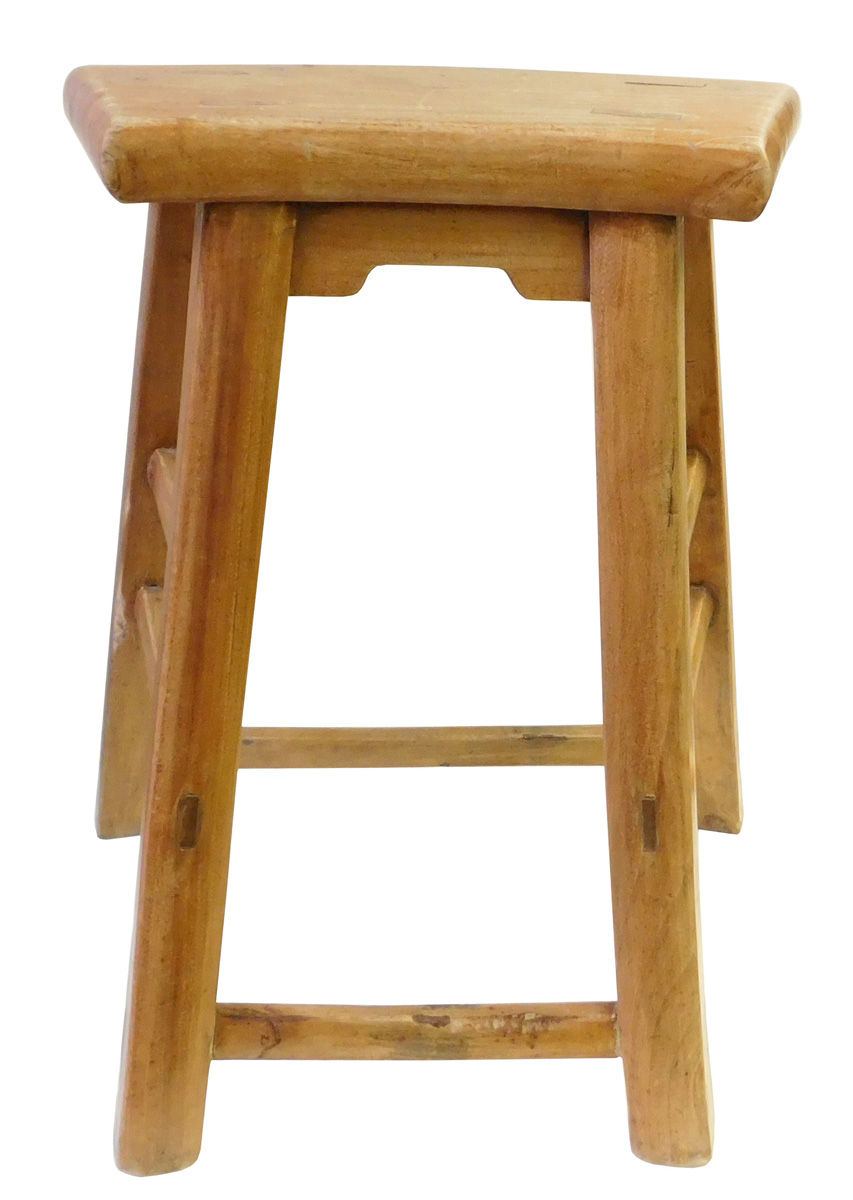 chinese rustic raw wood accent sitting stool chairish table coastal theme bedroom big square coffee folding lawn chairs clip desk lamp black ginger jar tiffany rooster dining for