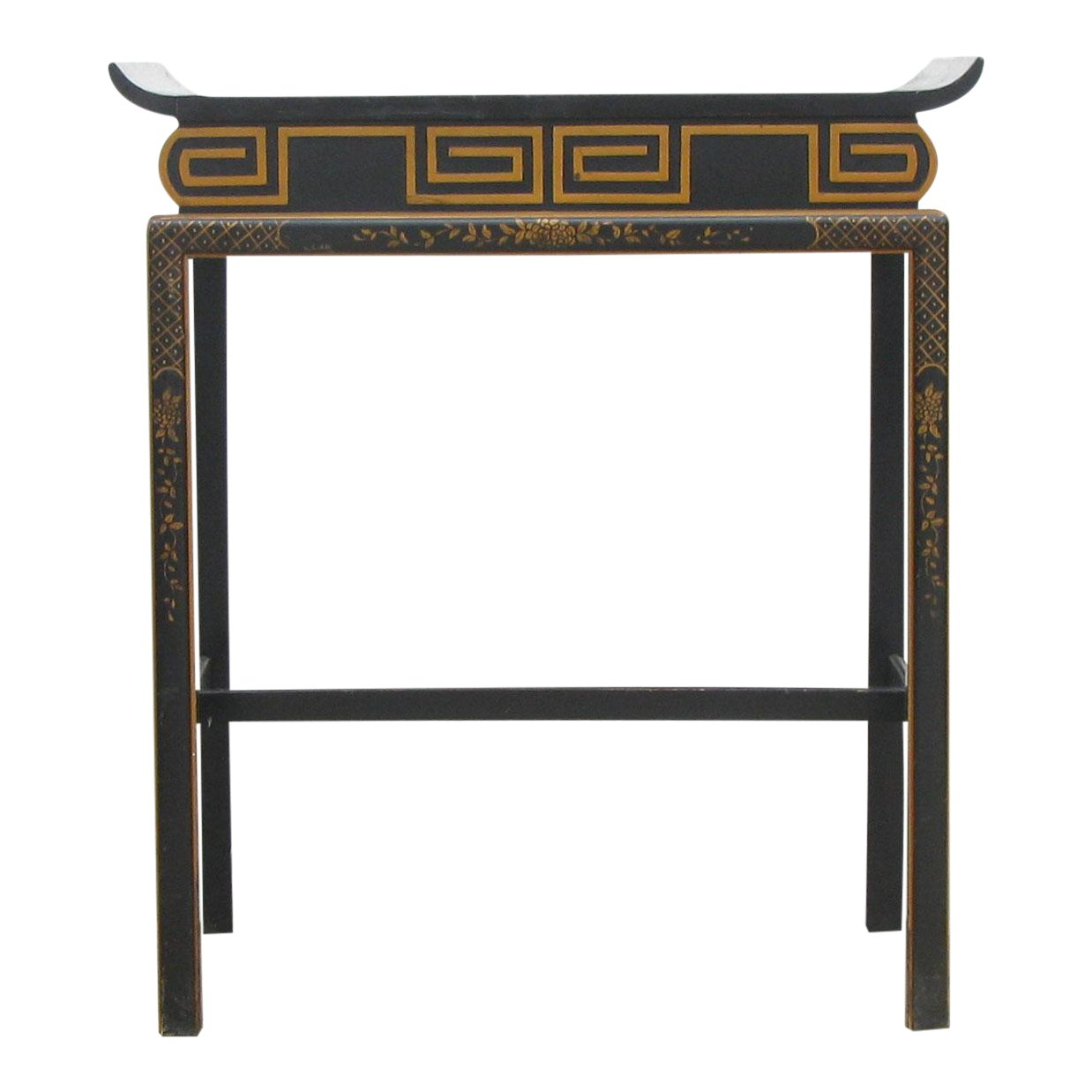 chinoiserie black lacquer accent table chairish cool end ideas navy blue coffee yellow console dark wood round pallet retro vintage sofa dining behind couch live edge urban home