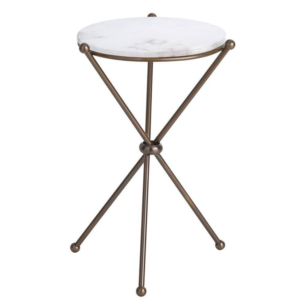 chloe accent table cindy apt white marble small bedside lamp shades large round garden cover inch unfinished pine top side cloth ashley stewart furniture runner quilt kits