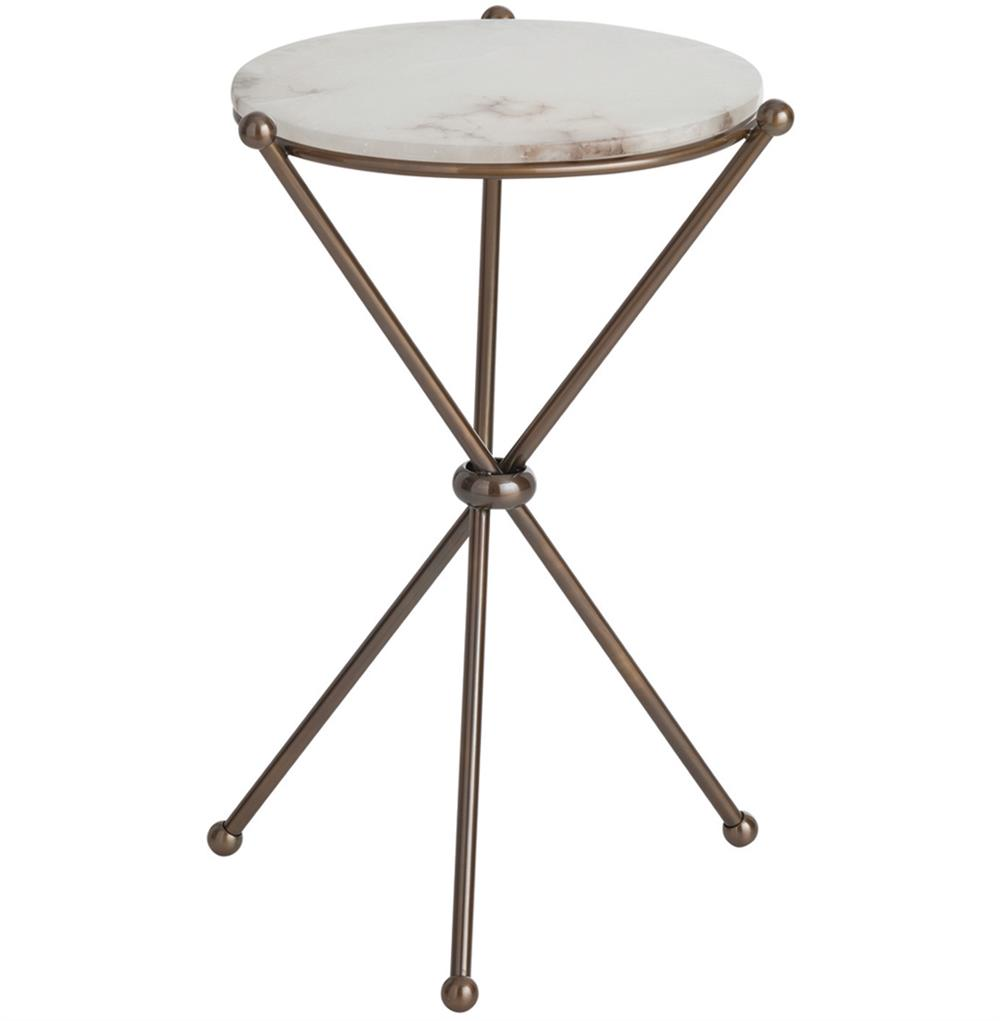 chloe antique brass marble modern round accent side table decorative tables gold coffee set hallway console cabinet small top pottery barn farmhouse bedside adjustable furniture