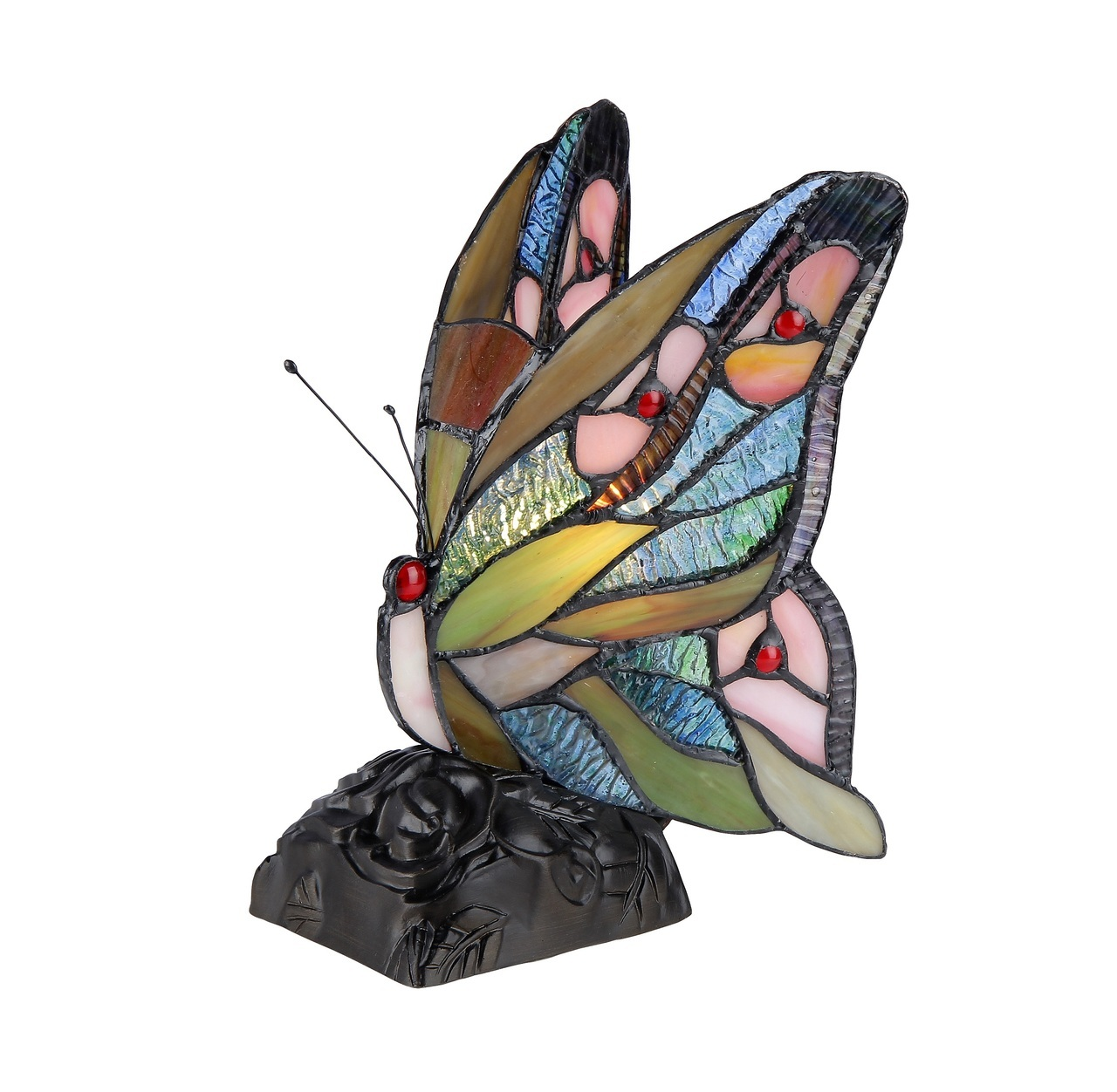 chloe lighting jacy stained glass light butterfly accent table lamp main drawer chest gallerie sofa coral home accents tall telephone jeromes furniture placemat outside chairs