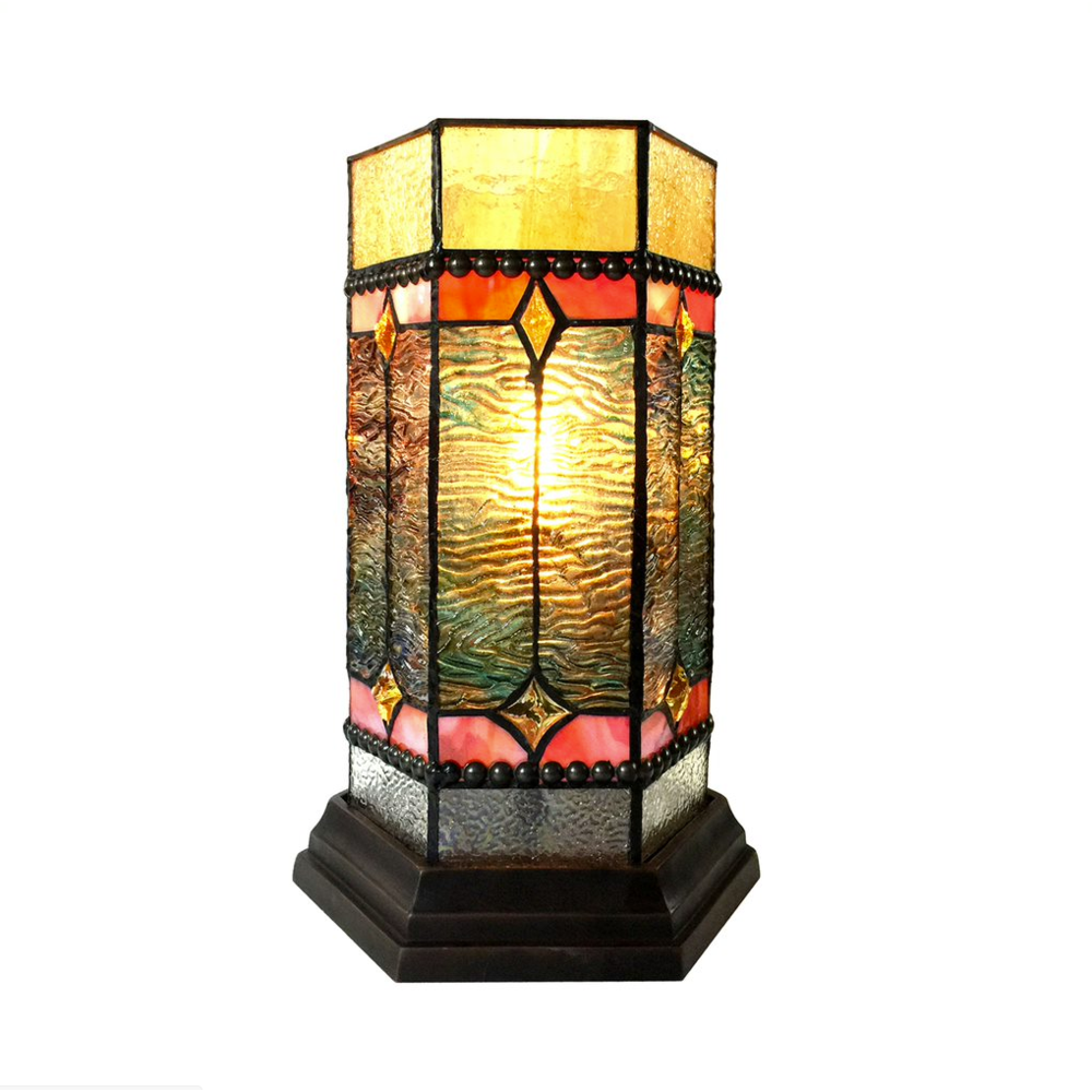 chloe lighting neilson tiffany glass accent pedestal light mission tall table lamp white lacquer avani mango wood drum retro legs what trestle side lamps garden and chairs
