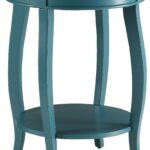 chloris blue accent table tables colors teal clear plastic mirrored tray pedestal kitchen counter height bar resin wicker furniture diy patio umbrella stand demilune console round 150x150