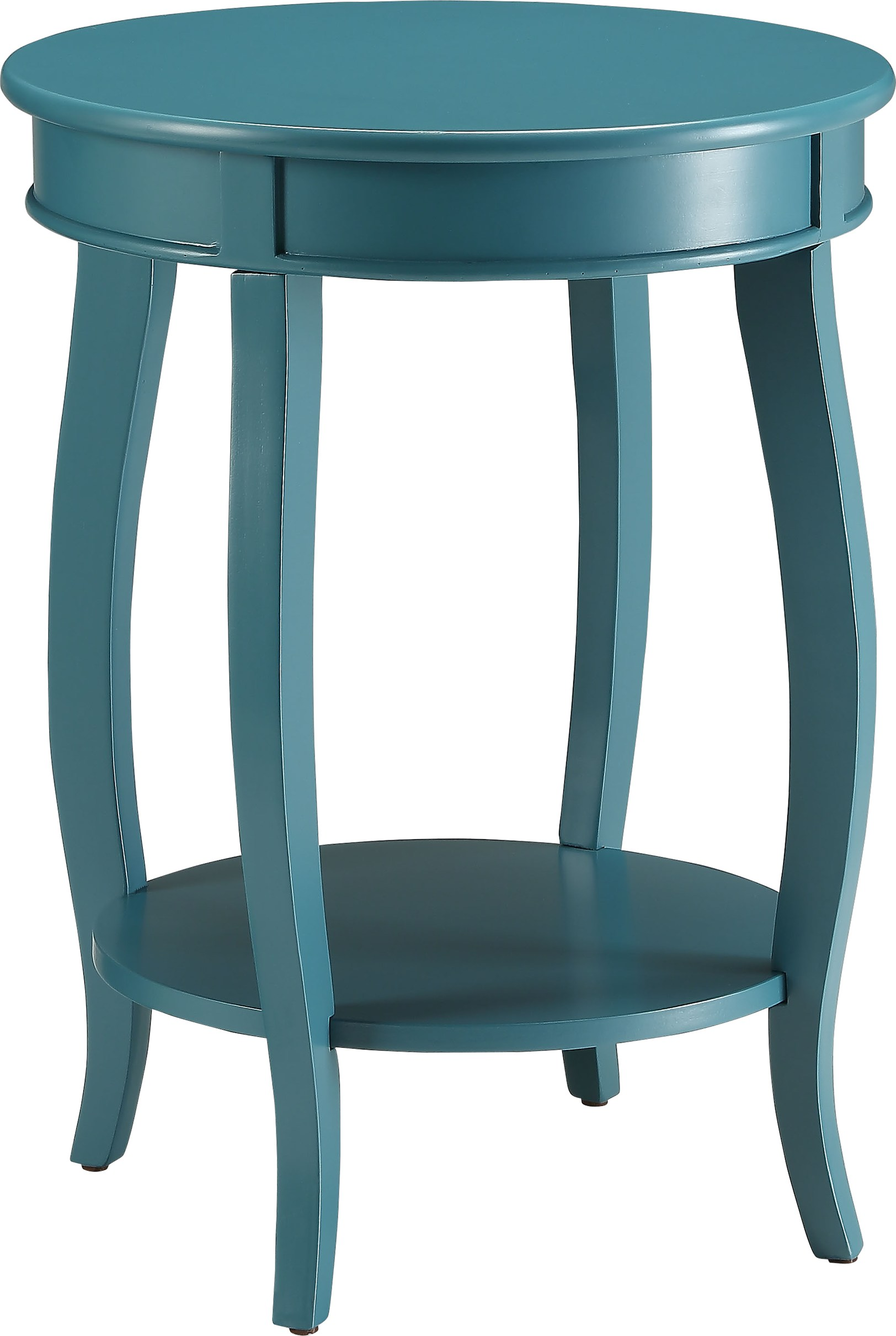 chloris blue accent table tables colors teal clear plastic mirrored tray pedestal kitchen counter height bar resin wicker furniture diy patio umbrella stand demilune console round