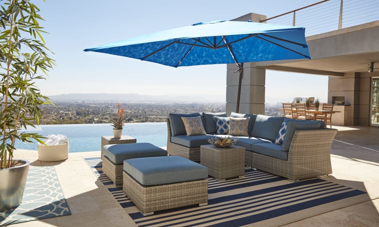 choose the best patio umbrella with these expert tips ing guide size and shape accent table determine you need inch wide console skinny couch lift top coffee blue nightstand