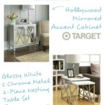christmas coming peachfully chic target furniture hollywood mirrored accent table the end tables found are tured above covers acacia wood ashley glass high kitchen and chairs 150x150