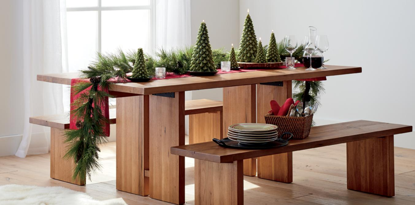 christmas decorations for home and tree crate barrel dlp xmassuper diningfurniture pottery barn rustic pedestal accent table dining furniture shower chair target narrow kitchen