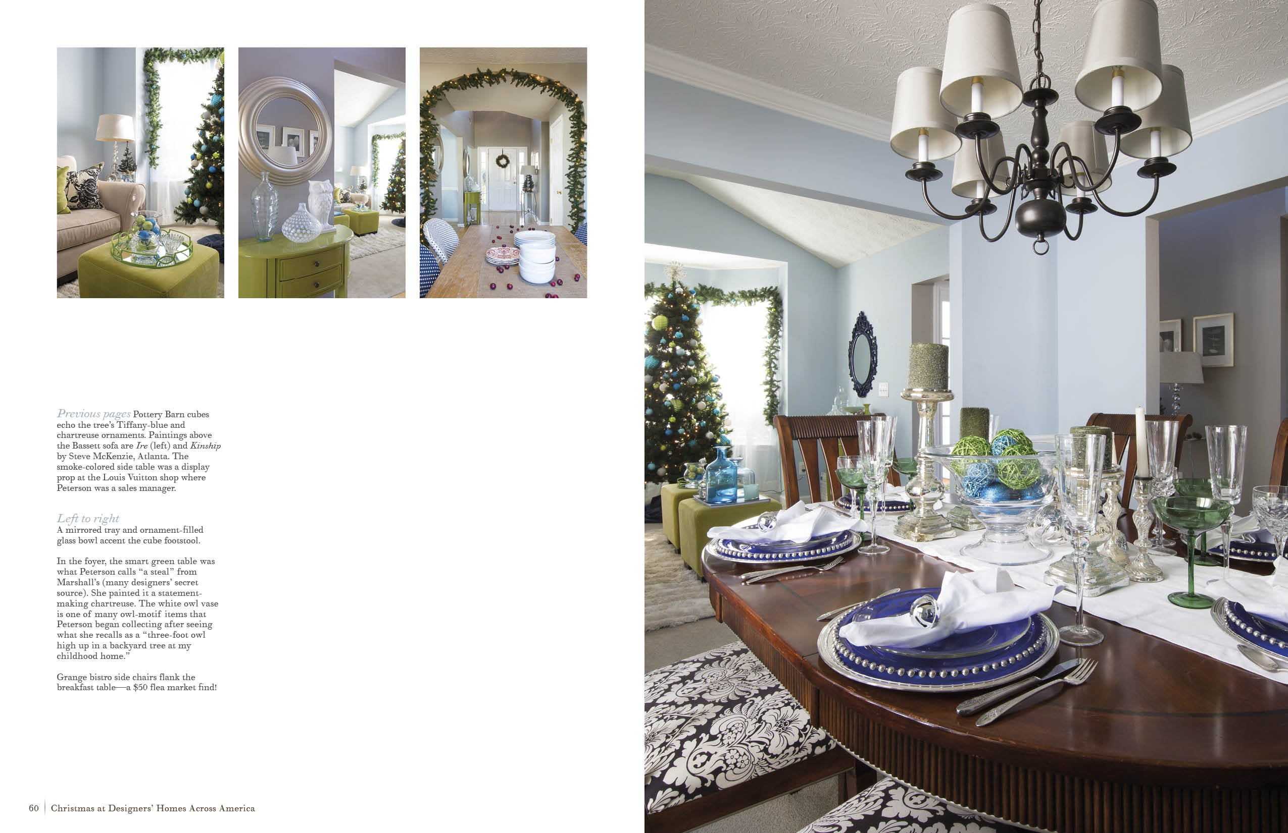 christmas designers homes across america katharine mcmillan triller accent table target patricia books tall lamps for living room chest tables ballard office furniture west elm