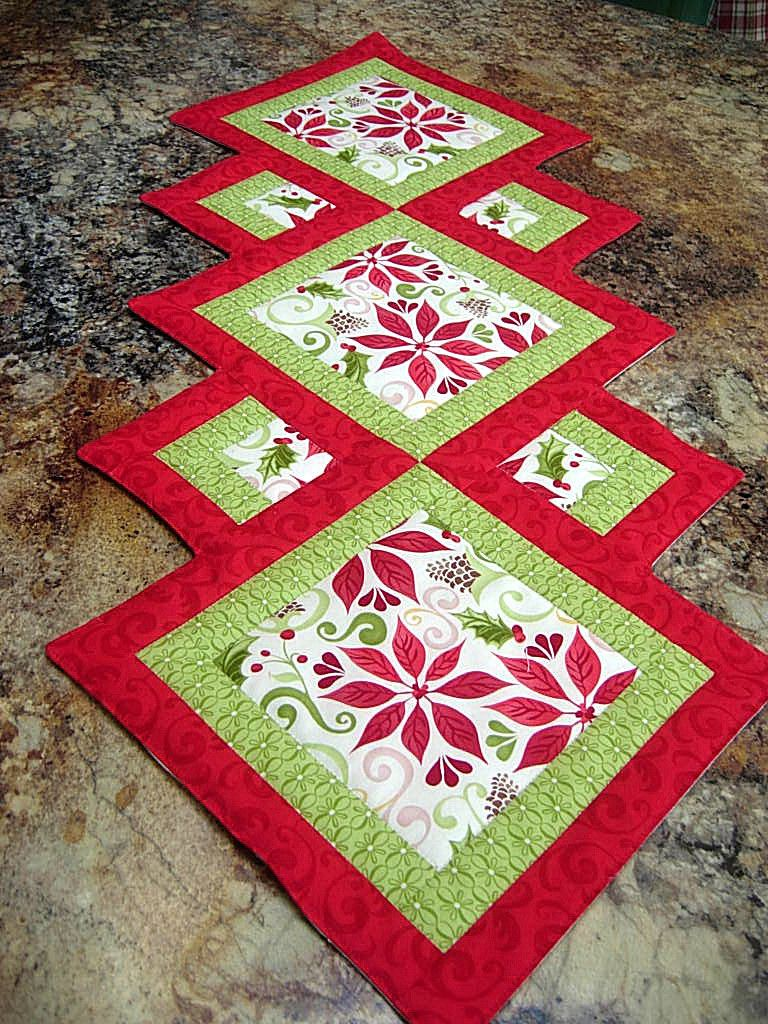 christmas table runner quilts make quilted runners accent your focus pattern first finish even thoug flickr pier one outdoor chairs black metal next glass top coffee nautical