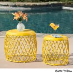 christopher knight home alamera outdoor inch and lattice yellow accent table nested side set clearance chairs corner computer desk with hutch sauder harbor view shaped office 150x150