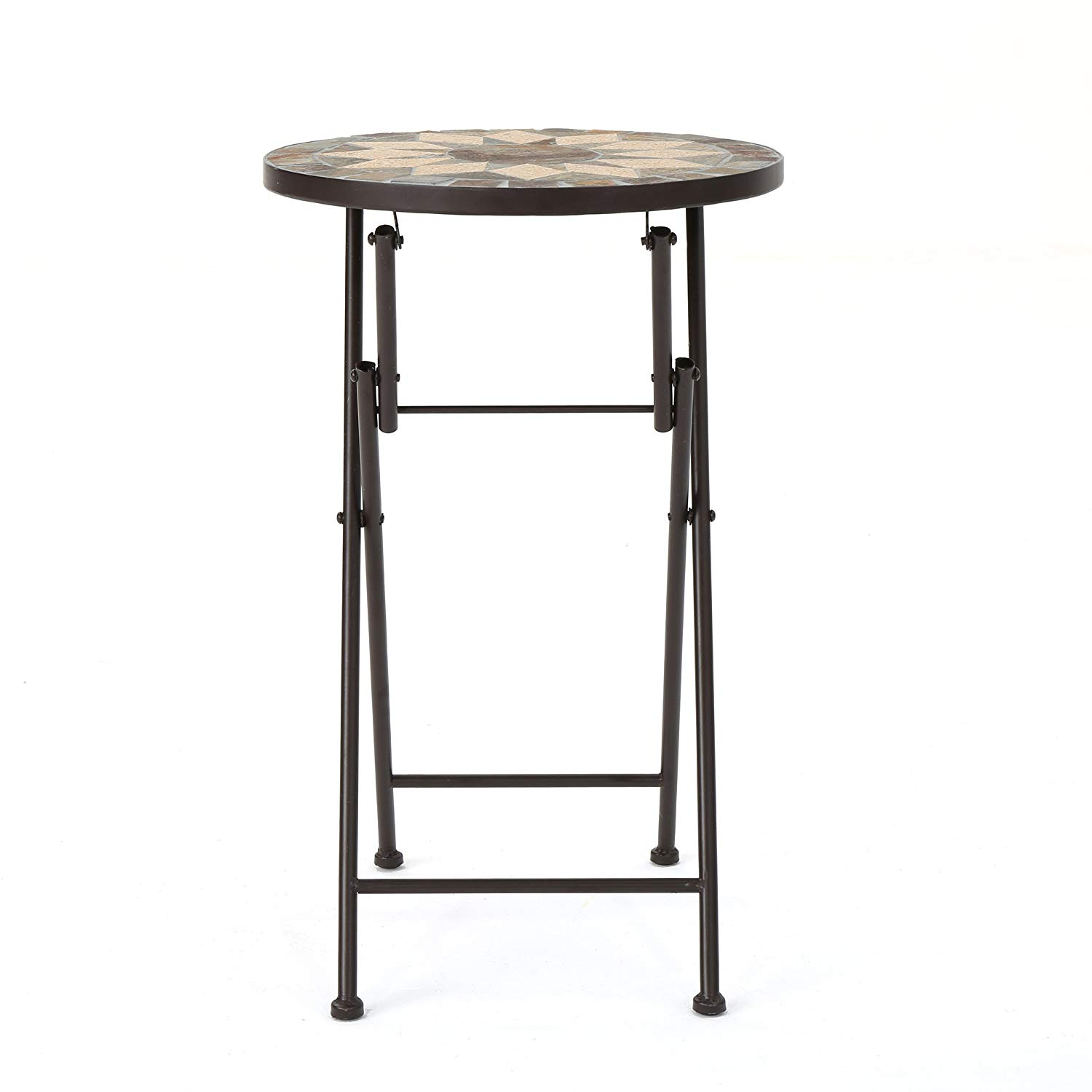 christopher knight home silvester ckh outdoor zaltana mosaic accent table tables beige and black garden rattan side glass top victorian coffee room essentials lamp small iron