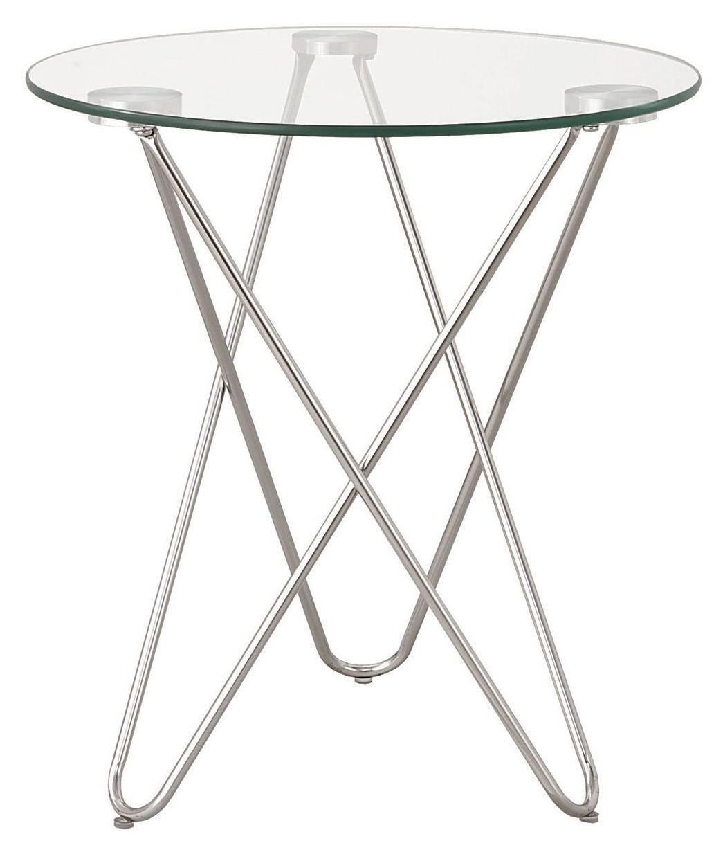 chrome accent table from coaster coleman furniture tables edmonton large nightstands barn style end square concrete fancy tablecloths corner wine rack plain lamp wooden bedside