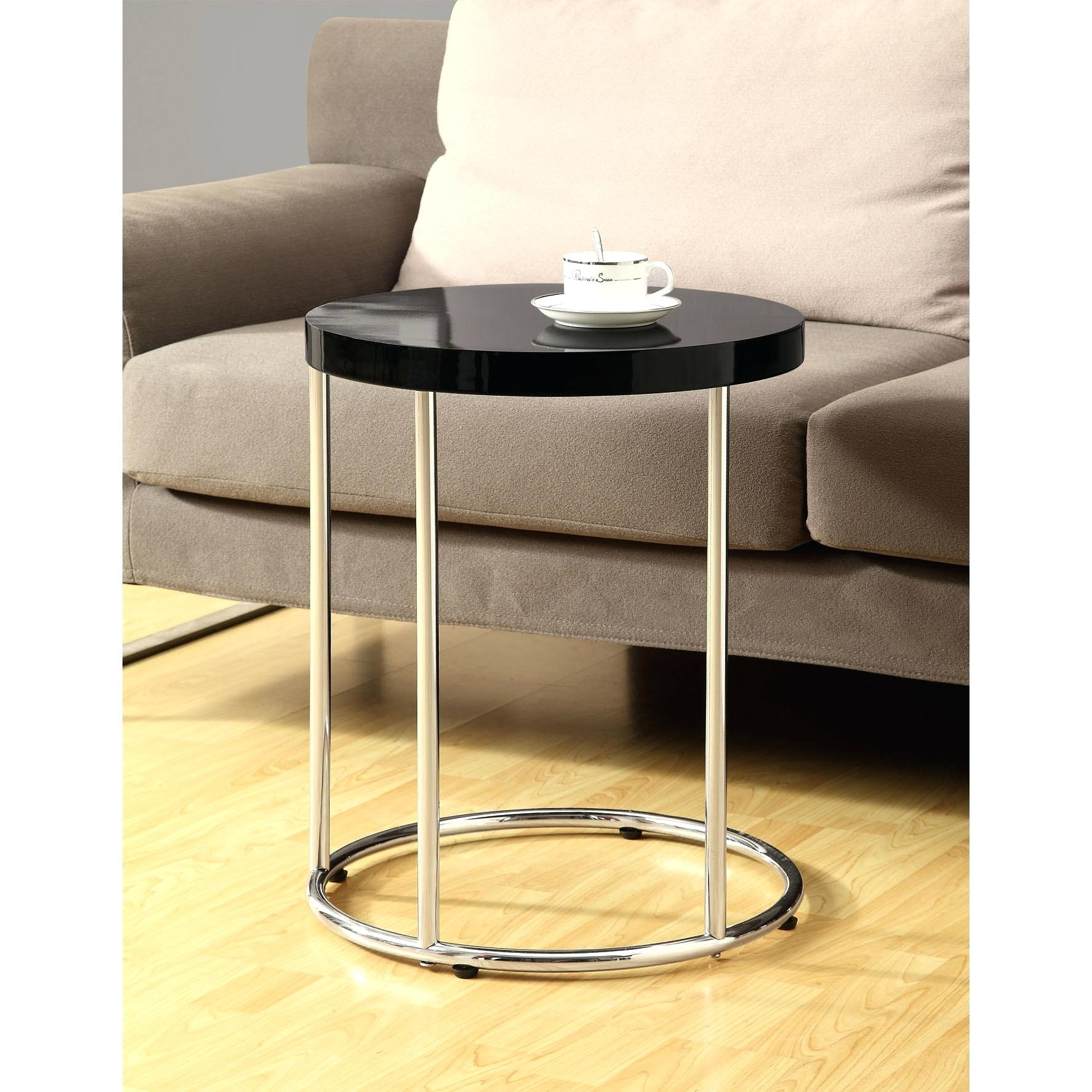 chrome accent table modern round target brittaandrebecca lucite brass coffee hammered metal drum end pottery barn dining room tables and chairs nate berkus high bistro stools for