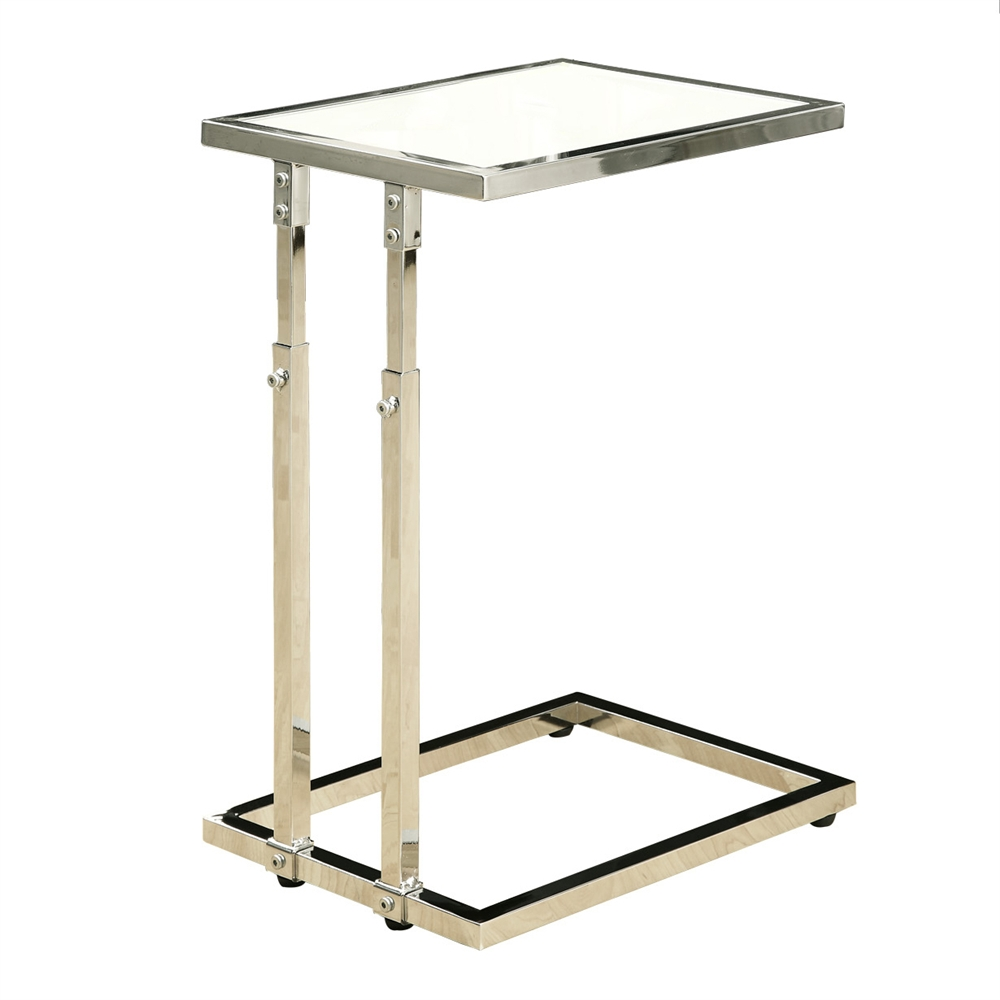 chrome adjustable height accent table shelving round cherry wood end tables white farmhouse dining antique brass runner rugs bedroom furniture kijiji bombay wooden stacking twins