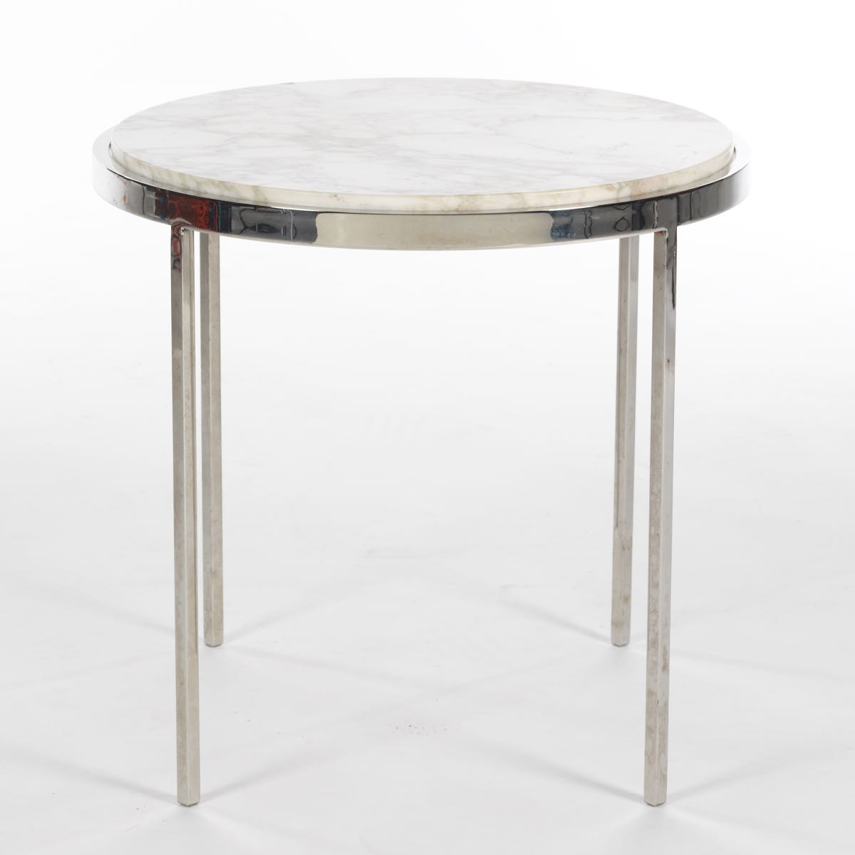 chrome metal accent table from monarch with base white polished marble top kohls dining chairs weathered teak coffee pier one wicker chair ifrane end round industrial high grey