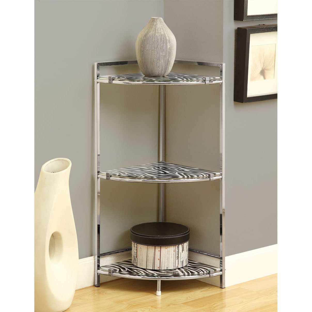chrome metal inch accent table with zebra tempered glass free shipping today rustic coffee storage waterproof phone pouch target trestle bench threshold owings console sofa covers