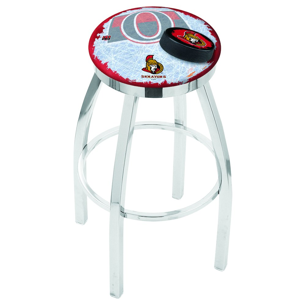 chrome ottawa senators swivel bar stool with accent ring table holland company outdoor coffee ice bucket small cover glass top patio nautical ceiling lights outside furniture