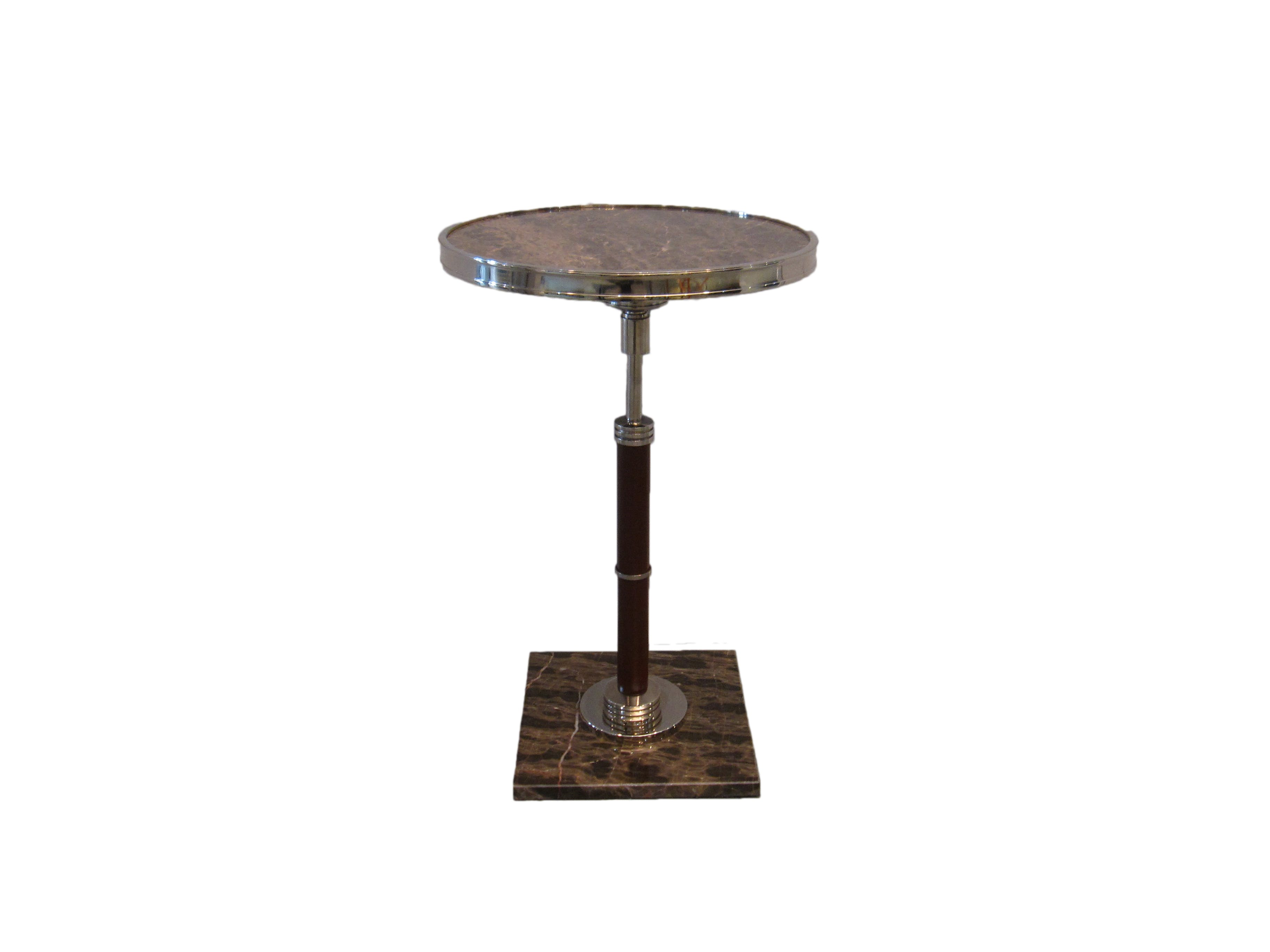 cigar drink accent side table eisenhower consignment marble top polished nickel west elm adjustable metal floor lamp night stand light rustic hallway modern oak with storage