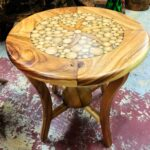 circle inlay side table with resin primefurniturehouston img round teak accent target sideboard triangle ikea doors bedroom lamps pottery barn leather sofa base usb lamp kilim 150x150