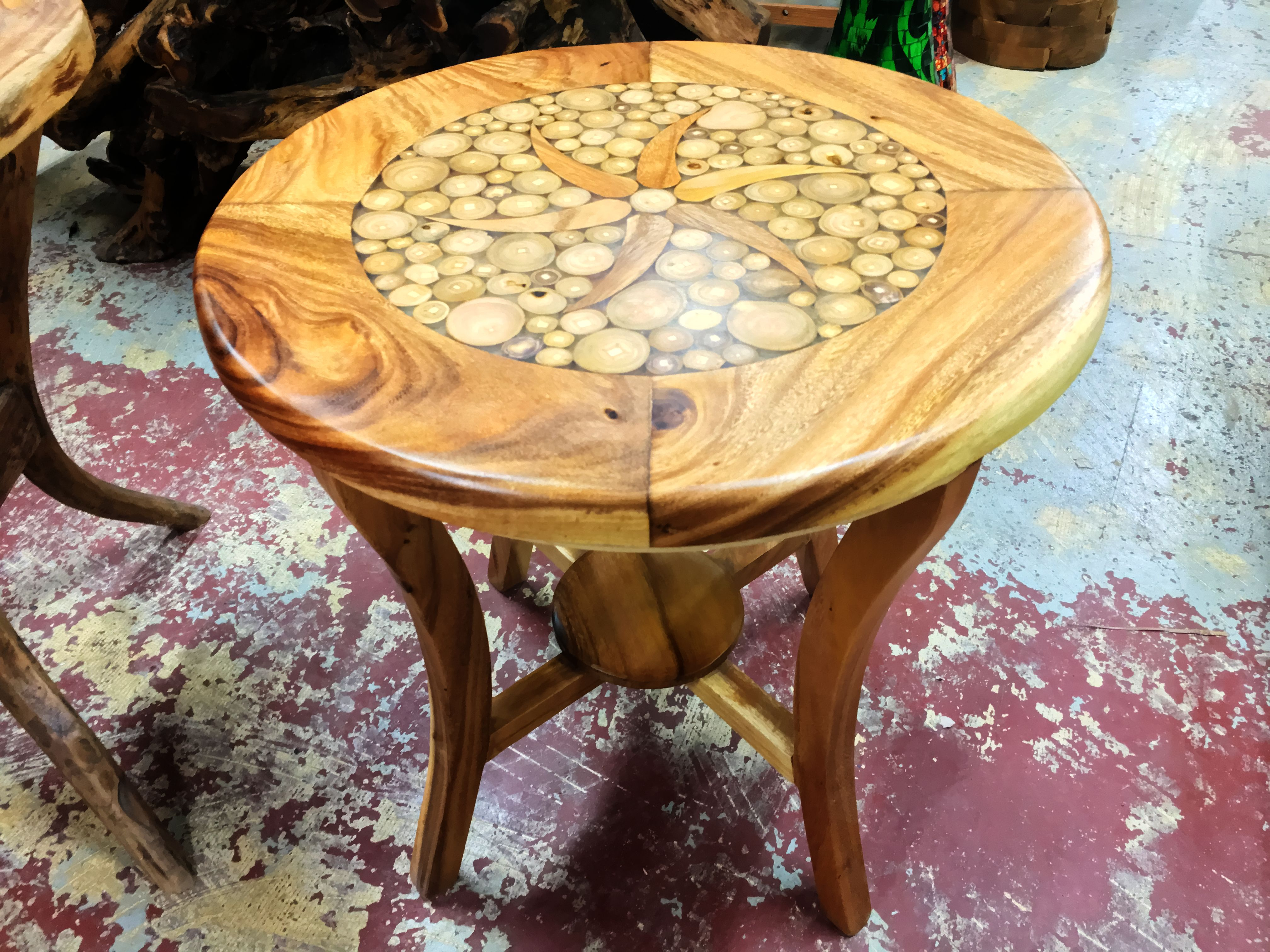 circle inlay side table with resin primefurniturehouston img round teak accent target sideboard triangle ikea doors bedroom lamps pottery barn leather sofa base usb lamp kilim