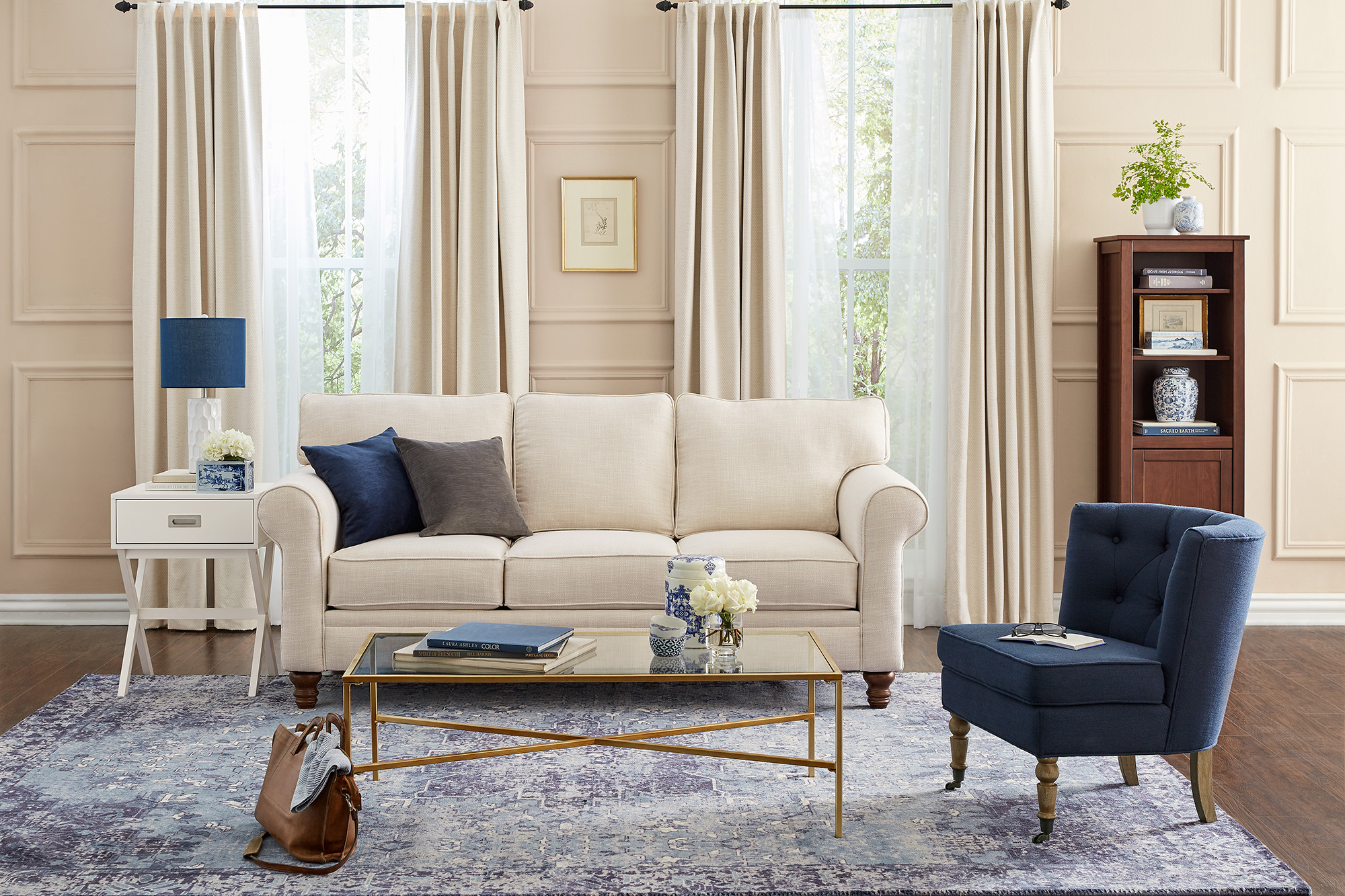 clarissa metal accent table ravenna home living launches its own furnishings collection take peek the affordable items bankers lamp tiffany stained glass pulaski sofa office floor