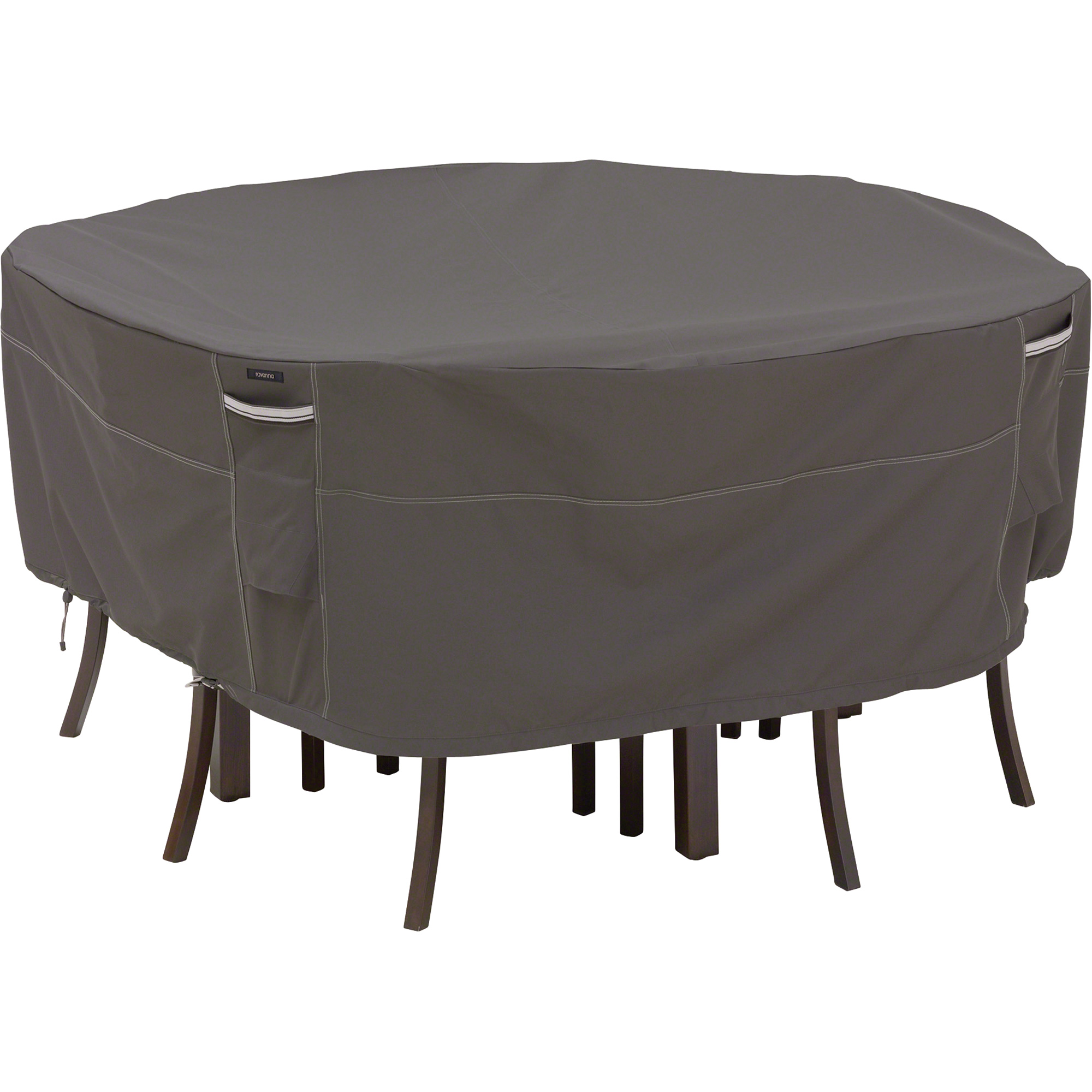 classic accessories ravenna taupe outdoor patio furniture cover round accent table covers chair large qvc pottery barn console dining sets concrete bedside triangle ikea short