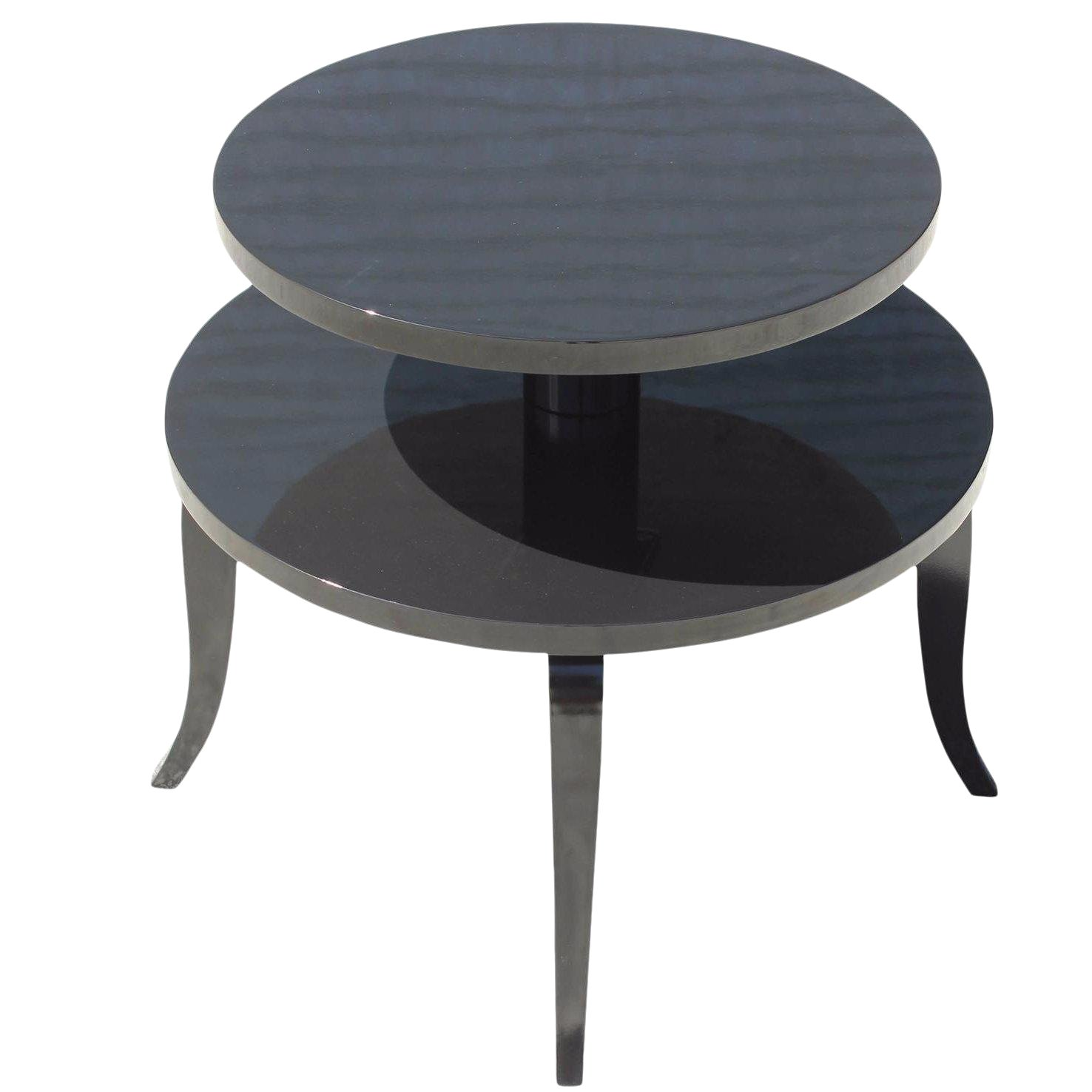 ... Classic French Art Deco Black Lacquer Accent Side Table Circa Chairish  Beach Themed Furniture Storage Chest ...