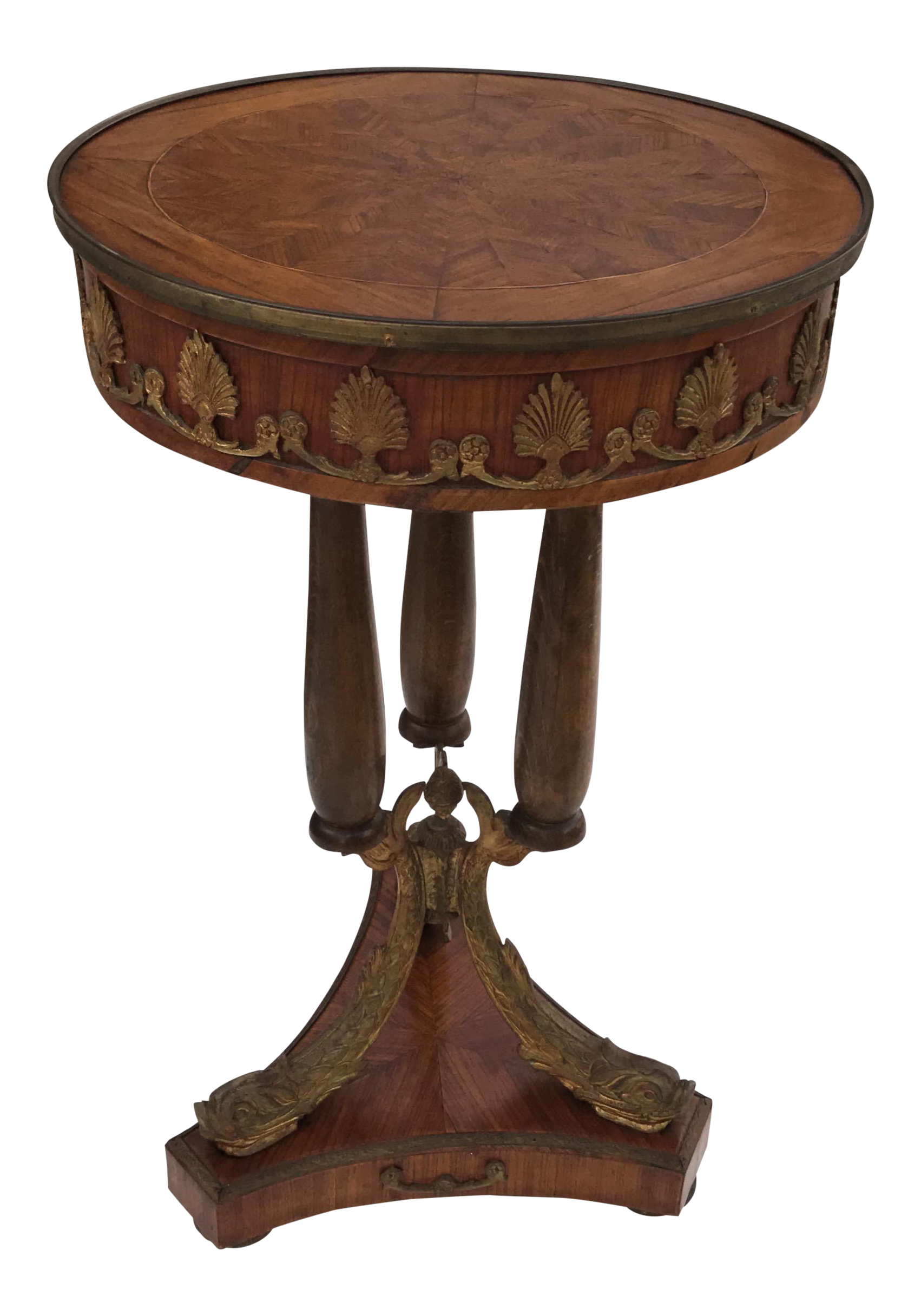 classic french maison jansen fish leg side table accent bronze circa metal tables chairish pink outdoor tea homesense bar stools square marble top end pottery barn legs homebase