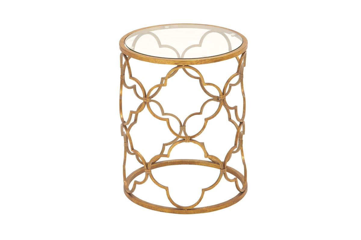 classic modern glass top accent table gold gardner white from furniture tiffany light shade outdoor small console with storage house lights resin wicker chairs baroque fred meyer