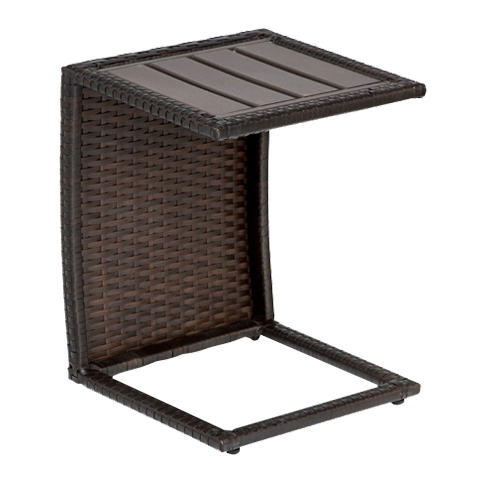 classic outdoor side table dark brown wicker design furnishings slim console with drawers ballard designs chair cushions round granite top coffee dale tiffany dragonfly lily lamp