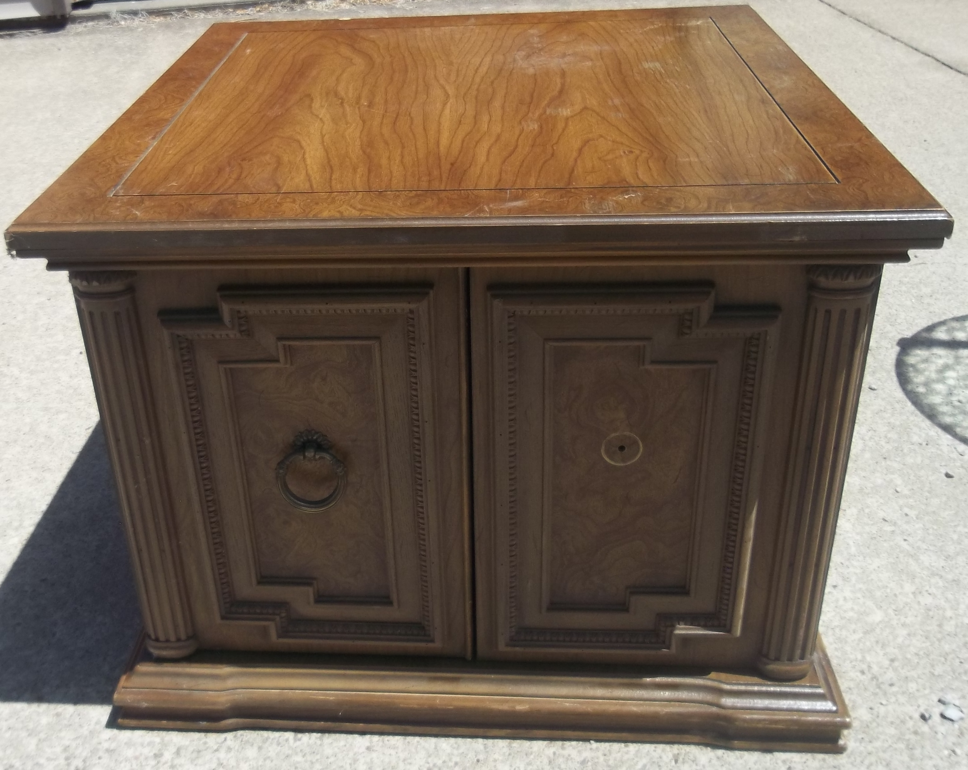 classy antique round end tables with storage popular home interior furniture living room vintage design broken pulls for awesome family decorating table drawer etsy console accent
