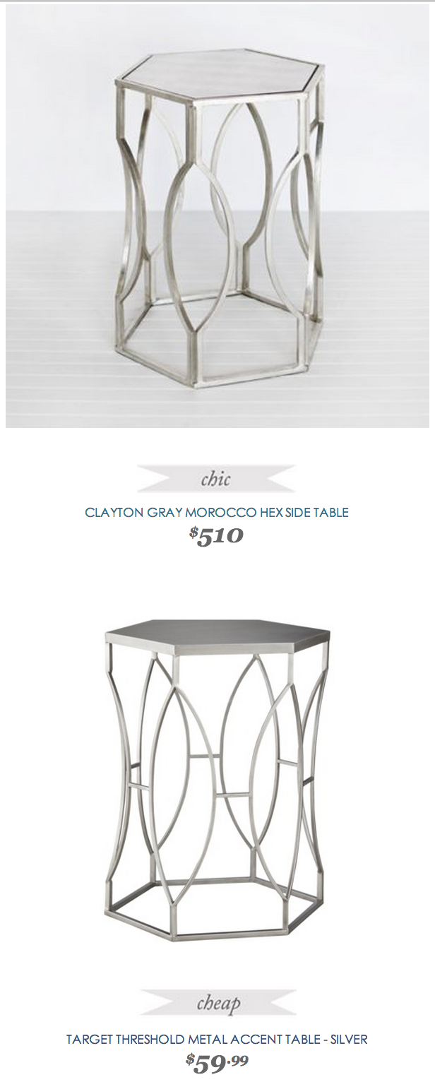 clayton gray hex side table copycatchic daily finds linon galway accent white copycatchicfind claytongray target pier dining and chairs ikea set plastic frame large grey lamp
