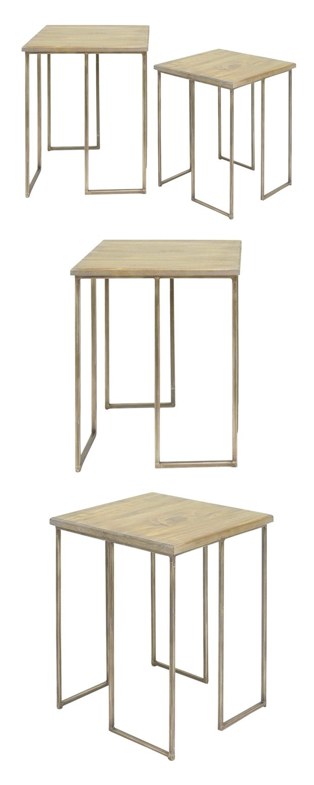 clean and contemporary design this set accent tables will light wood table easily mesh with most modern spaces lovely tabletops open rectangular foot console plain cloths dale