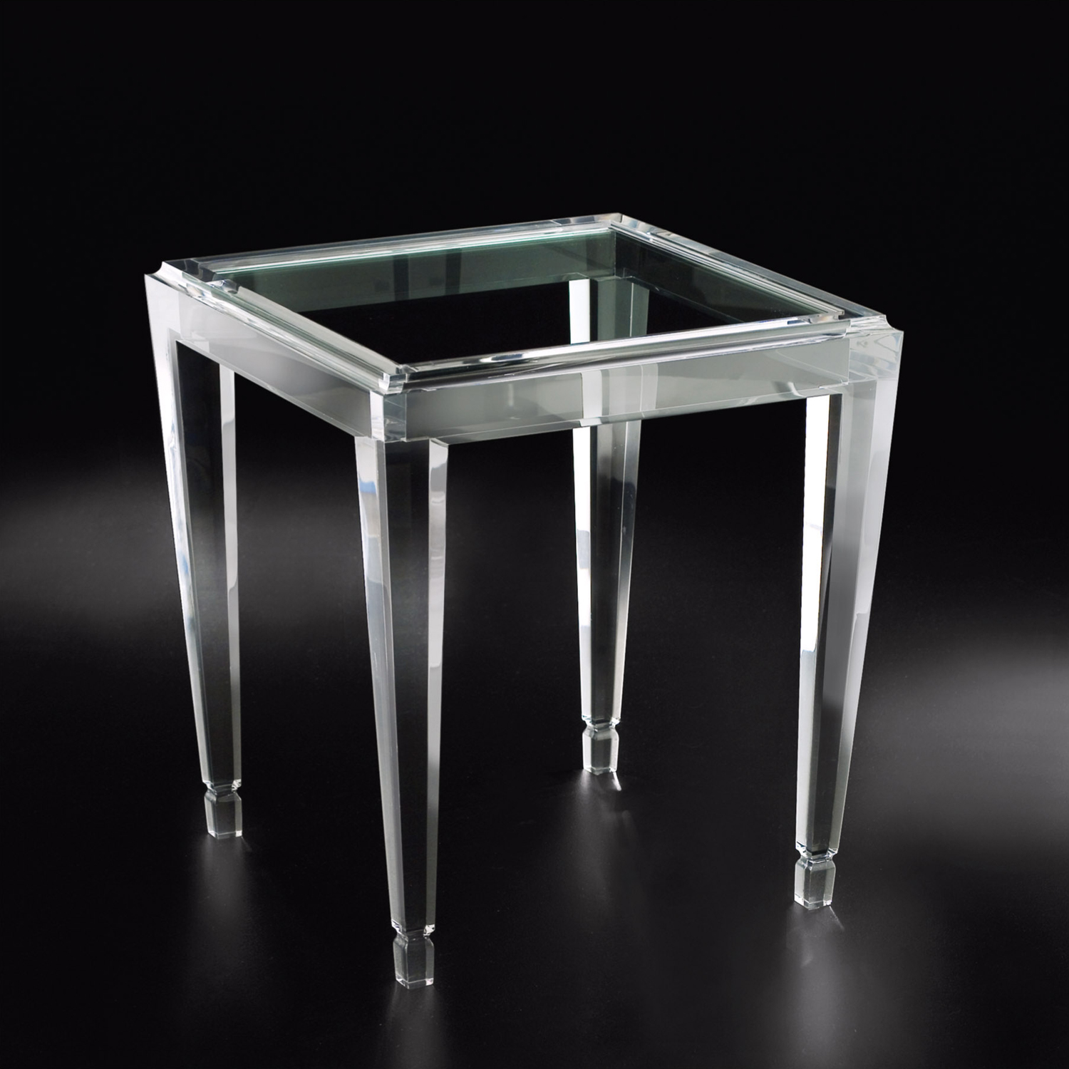 clear acrylic end table dcg bombay accent tables allan knightacrylic and occasional gold zella small round antique pulaski leather recliner yacht furniture mango dining argos