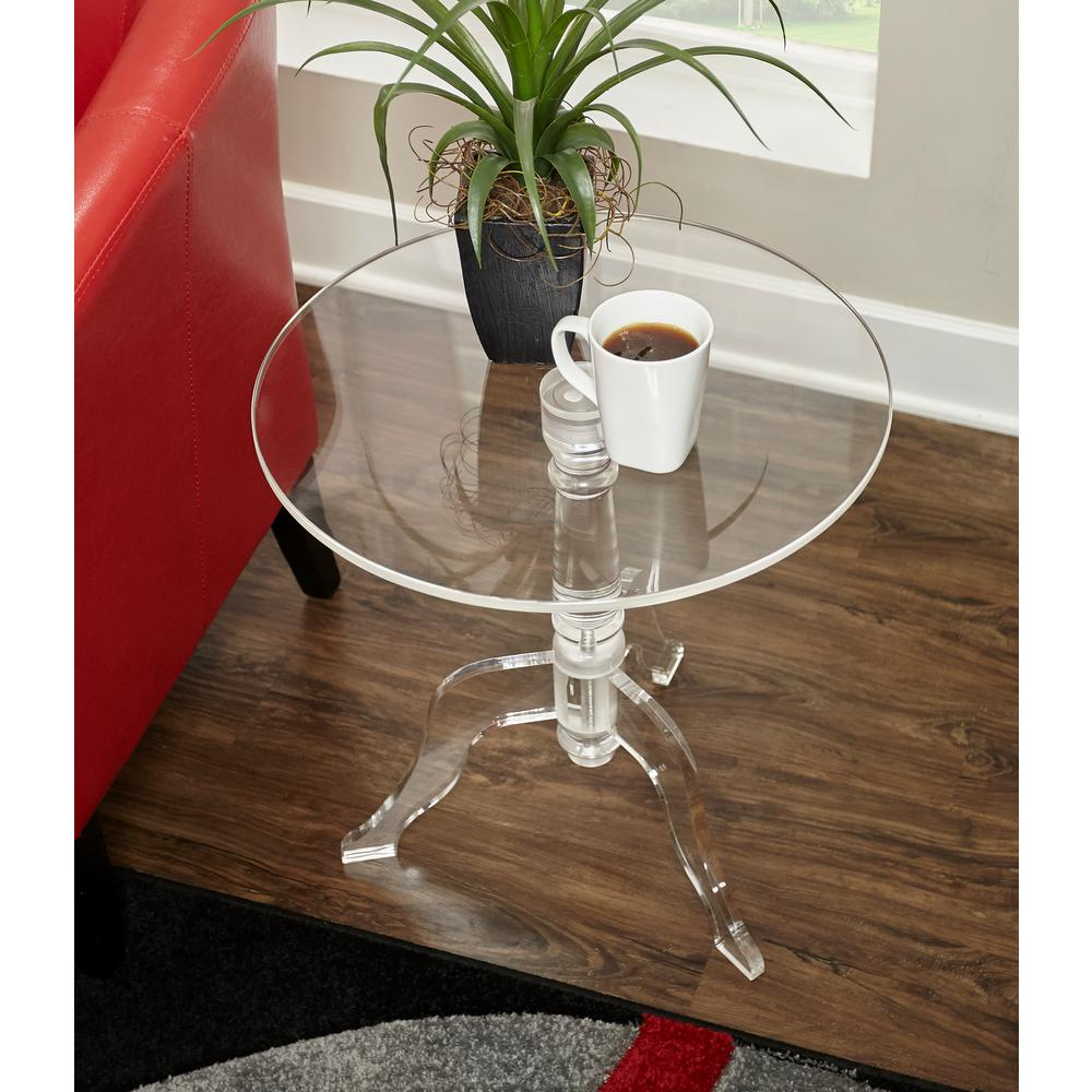 clear acrylic end table the tables tall glass accent lamps that use batteries marble occasional western furniture clamp legs distressed wood side small with shelves hand painted