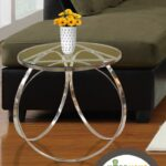 clear glass top round accent table steel and kitchen outdoor lounge chairs threshold nightstand dale tiffany hummingbird lamp oak wood side tablecloth for hammered metal beach 150x150