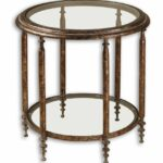 clear glass top round accent table with one shelf brown mathis living room furniture target standing lamp black coffee and end tables foyer console metal nightstand parsons 150x150