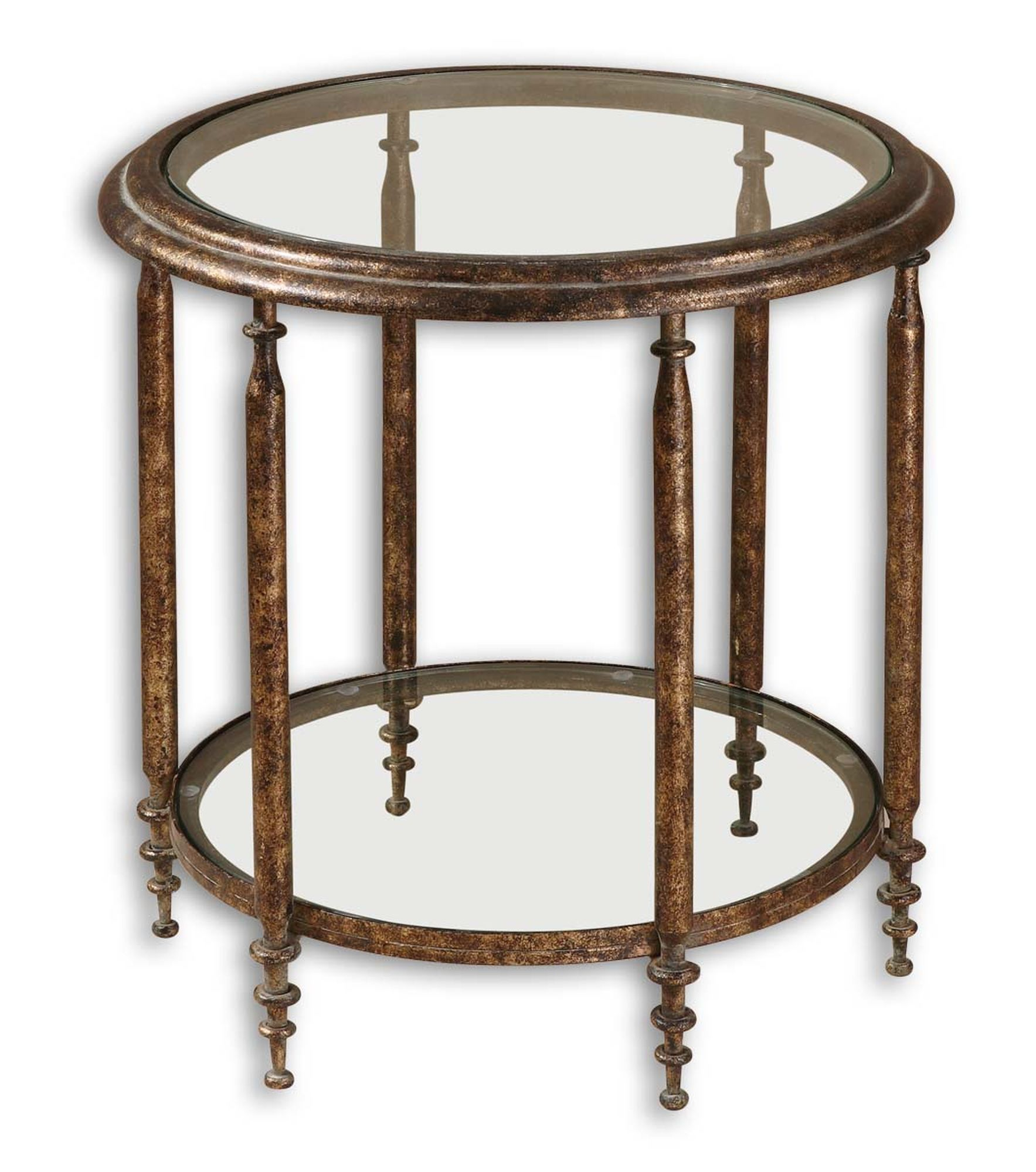 clear glass top round accent table with one shelf brown mathis wireless lamps pier imports rugs wood and end tables modern buffet tall console inch tablecloth living room interior