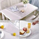 clear table cover protector desk pads mats wood small round tablecloths for accent tables furniture protective large pub bar tabletop countertop topper dining coffee end plastic 150x150