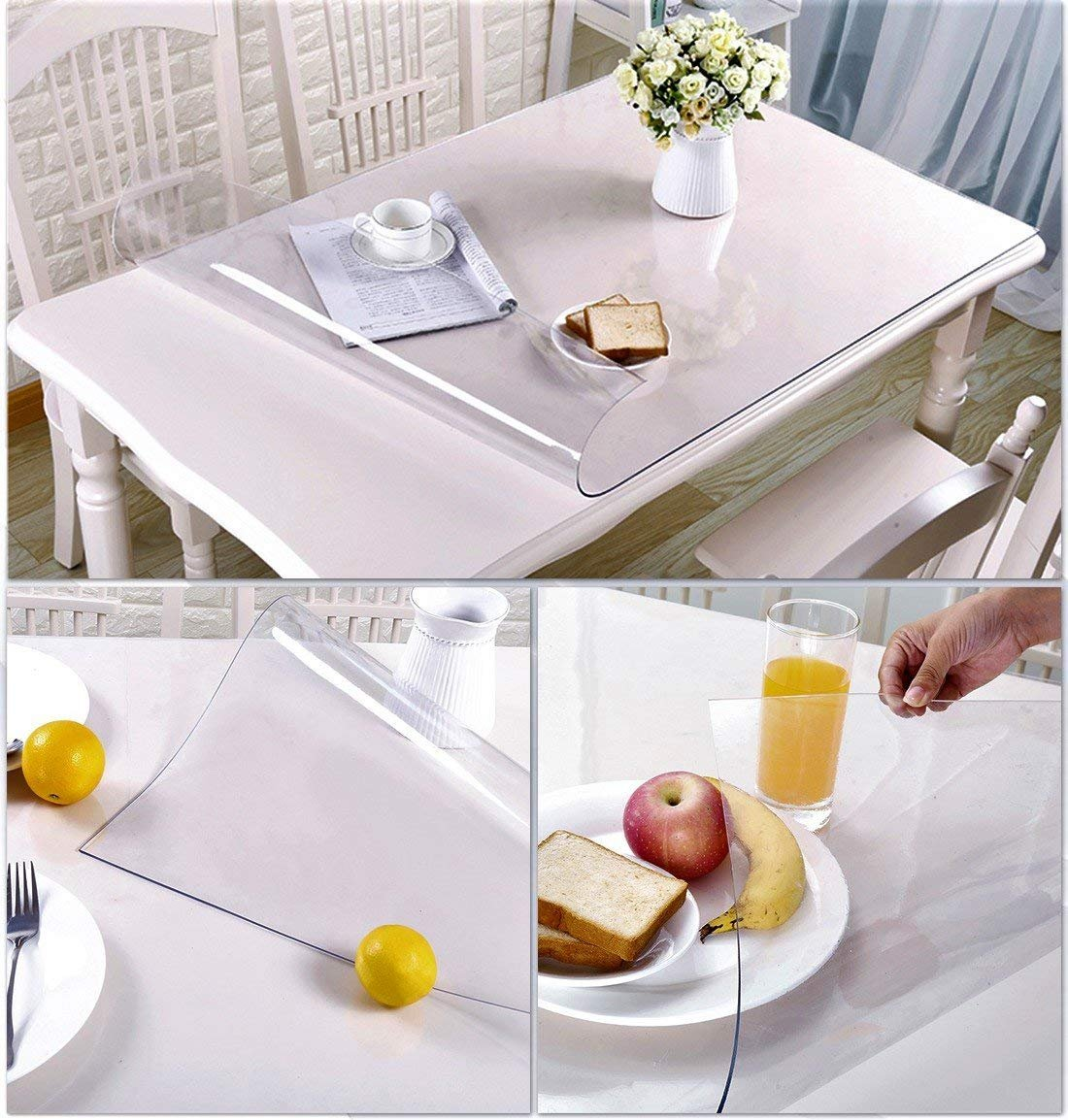 clear table cover protector desk pads mats wood small round tablecloths for accent tables furniture protective large pub bar tabletop countertop topper dining coffee end plastic