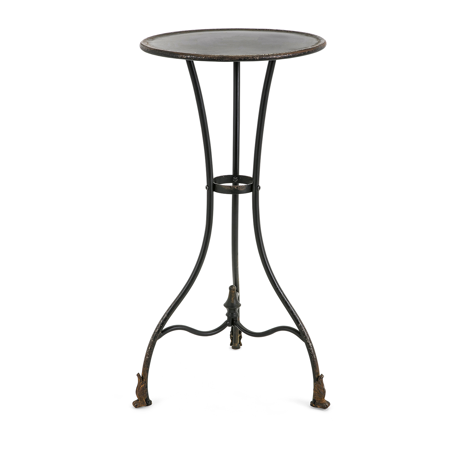 cliffton large metal accent table roost and galley slim round wood tables pier imports coupon off total entire purchase end outside chair covers patio with umbrella hole pottery